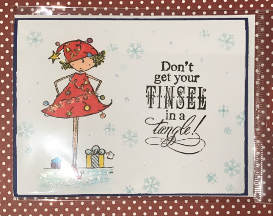 Don't Get Your Tinsel in a Tangle Holiday Card/ Christmas Card / Friendship/ Winter Greeting/ Tangled Lights
