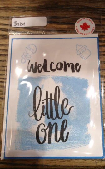 Welcome Little One Greeting Card/ Birth/ New born/ announcement/ new life/ adoption/ baby/ new addition