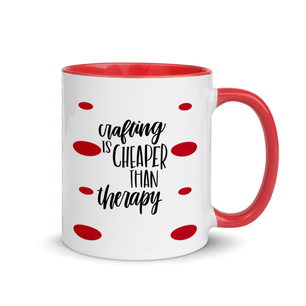 Craft mug, red mug