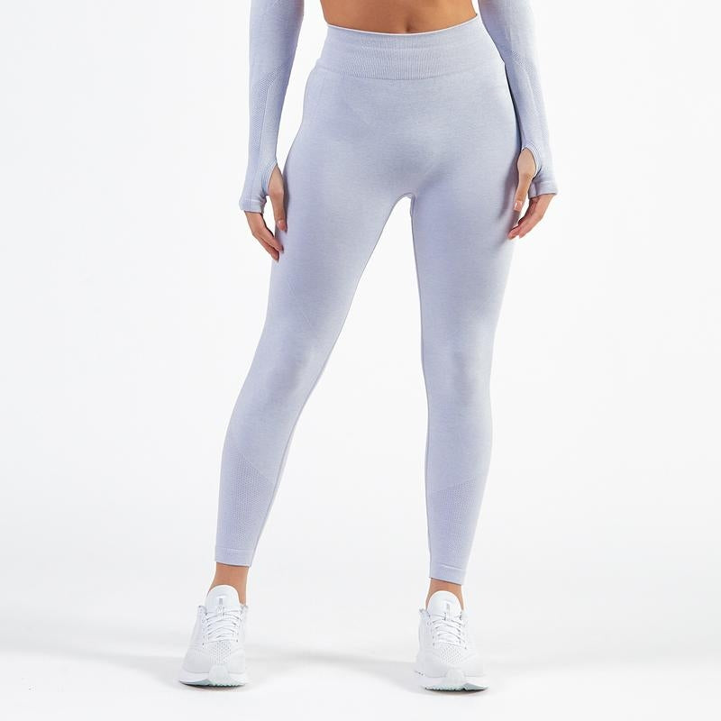 BOLD Long Sleeve & Leggings 2 Piece Set- Pale Icy Blue