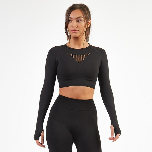BOLD Long Sleeve & Leggings 2 Piece Set- Black