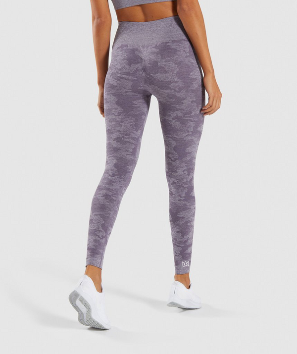 WILD Camo Leggings Purple