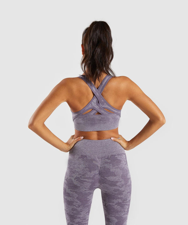 WILD Camo Sleeveless Sports Bra & Leggings Set Purple