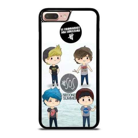 5 SECONDS OF SUMMER 5SOS CARTOON-iphone-8-plus-case