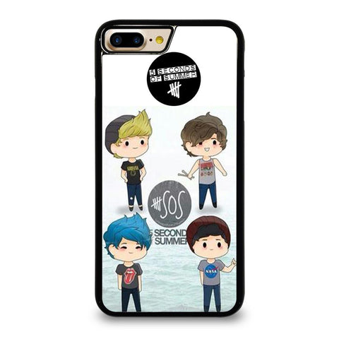 5 SECONDS OF SUMMER 5SOS CARTOON-iphone-7-plus-case