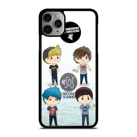 5 SECONDS OF SUMMER 5SOS CARTOON-iphone-11-pro-max-case
