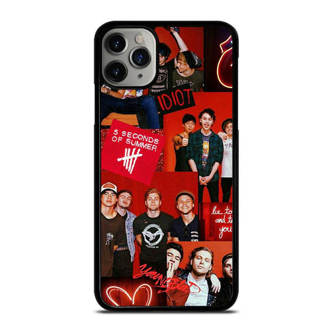 5 SECONDS OF SUMMER RED COLLAGE iPhone 11 Pro Max Case