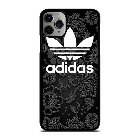 ADIDAS LOGO BLACK FLORAL iPhone 11 Pro Max Case