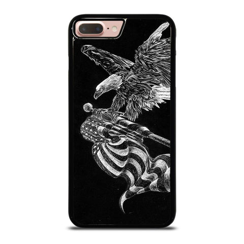 AMERICAN FLAG EAGLE SKETCH iPhone 8 Plus Case