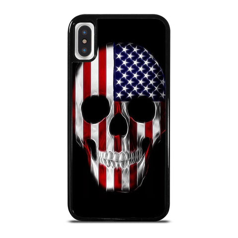 AMERICAN FLAG SKULL METAL iPhone X / XS Case