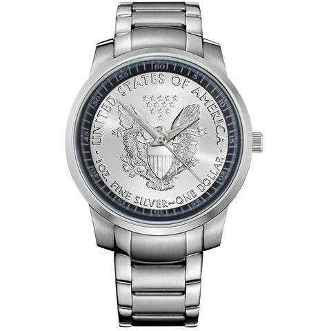 AMERICAN SILVER COIN-metal-watch