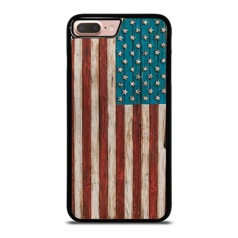 AMERICAN FLAG USA WOOD 2 iPhone 8 Plus Case