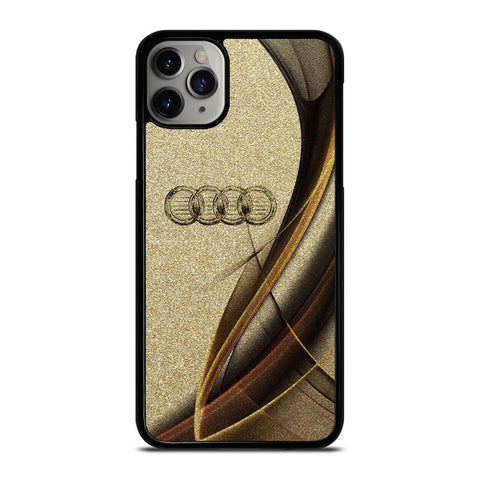 AUDI LOGO ELEGAN GOLD TEXTURE iPhone 11 Pro Max Case