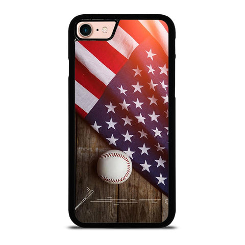 BASEBALL BALL AND FLAG-iphone-8-case