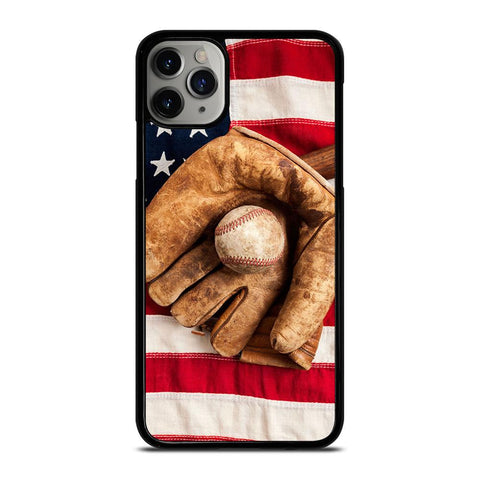 BASEBALL GLOVE AMERICAN FLAG iPhone 11 Pro Max Case