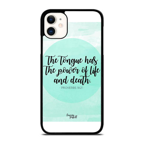 BIBLE VERSES FOR ANGER iPhone 11 Case