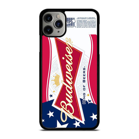 BUDWEISER AMERICAN FLAG LOGO-iphone-11-pro-max-case