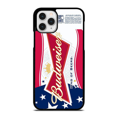 BUDWEISER AMERICAN FLAG LOGO-iphone-11-pro-case