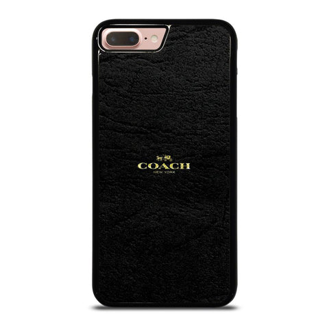 COACH NEW YORK BLACK LEATHER iPhone 8 Plus Case