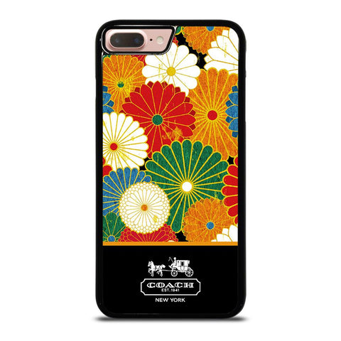 COACH NEW YORK COLORFUL FLORAL LOGO iPhone 8 Plus Case
