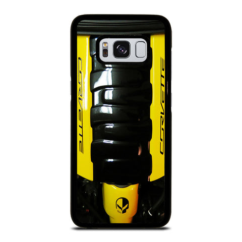 CORVETTE ENGINE YELLOW Samsung Galaxy S8 Case