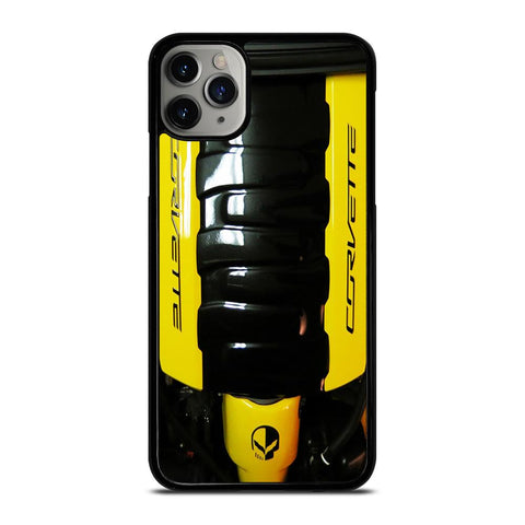 CORVETTE ENGINE YELLOW-iphone-11-pro-max-case
