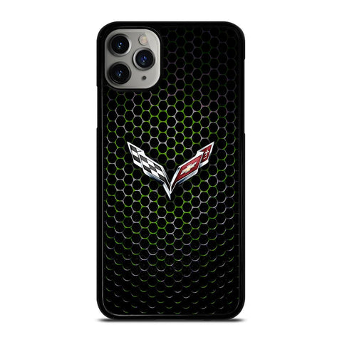 CORVETTE LOGO GREEN METAL iPhone 11 Pro Max Case