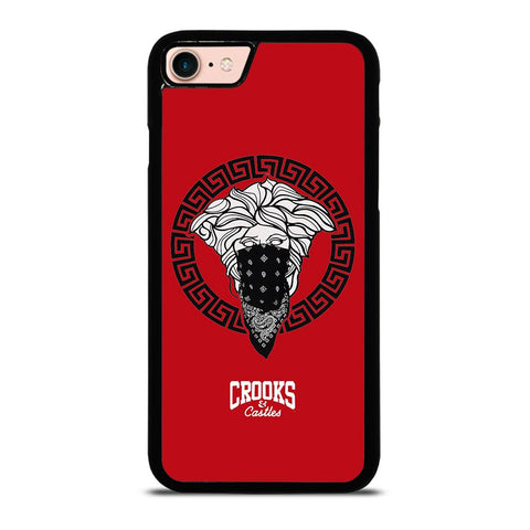 CROOK AND CASTLES BANDANA RED-iphone-8-case