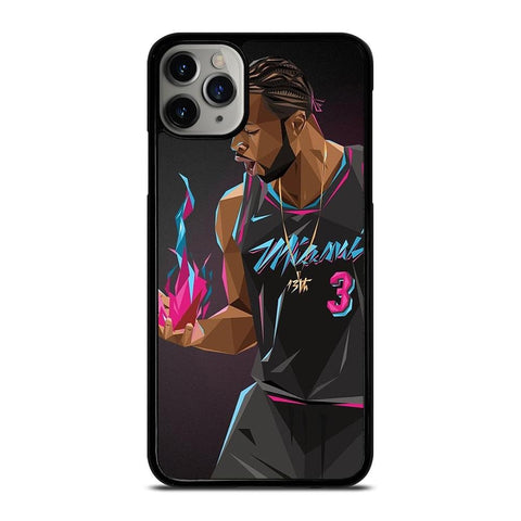 DWYANE WADE MIAMI HEAT ART-iphone-11-pro-max-case