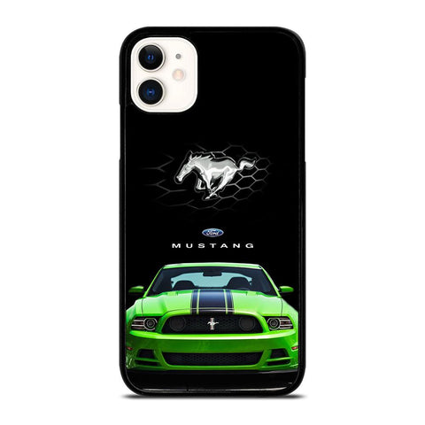 FORD MUSTANG CAR GREEN iPhone 11 Case