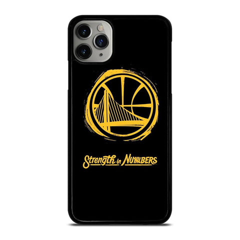 GOLDEN STATE WARRIORS LOGO STRENGTH IN NUMBERS iPhone 11 Pro Max Case