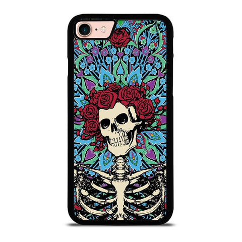 GRATEFUL DEAD SKELETON AND ROSES-iphone-8-case
