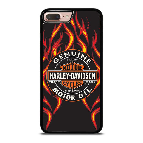 HARLEY DAVIDSON GENUINE MOTOR OIL BADGE iPhone 8 Plus Case
