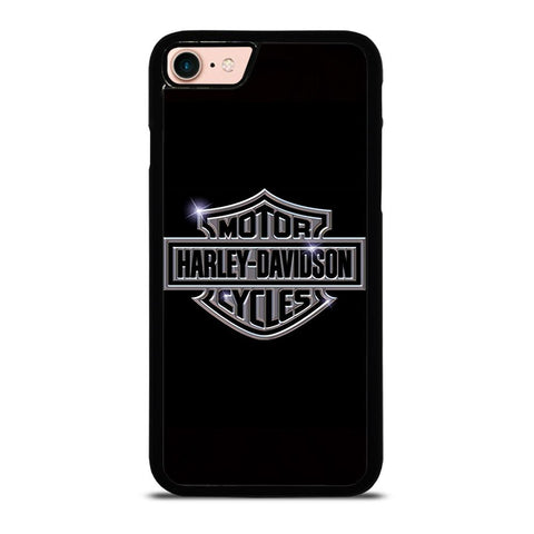 HARLEY DAVIDSON LOGO BLACK-iphone-8-case