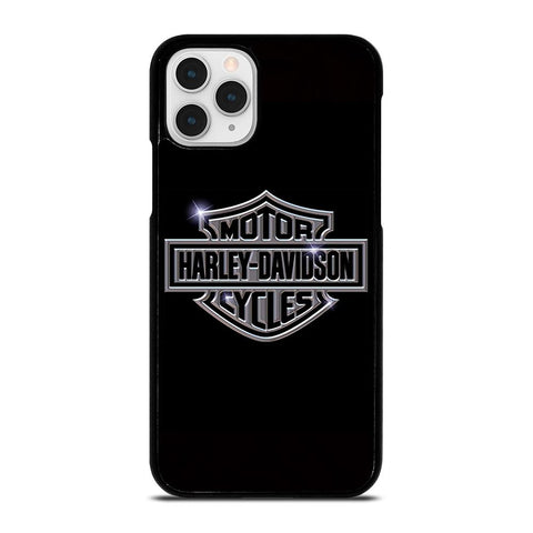 HARLEY DAVIDSON LOGO BLACK-iphone-11-pro-case
