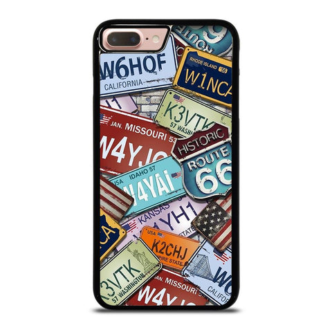 HISTORICAL ROUTE 66 NUMBER PLATE iPhone 8 Plus Case