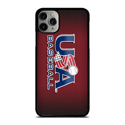 MAJOR BASEBALL LEAGUE LOGO RED iPhone 11 Pro Max Case