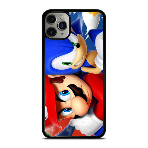 MARIO VS SONIC-iphone-11-pro-max-case