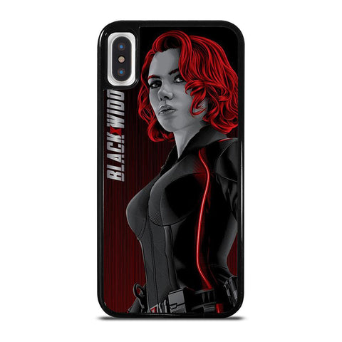 MARVEL BLACK WIDOW AVENGERS ART iPhone X / XS Case