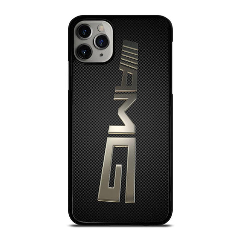 MERCEDES AMG LOGO CARBON PERSPECTIVE iPhone 11 Pro Max Case