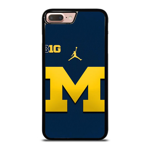 MICHIGAN WOLVERINES BLUE LOGO iPhone 8 Plus Case