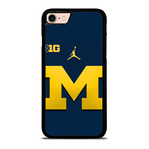MICHIGAN WOLVERINES BLUE LOGO iPhone 8 Case