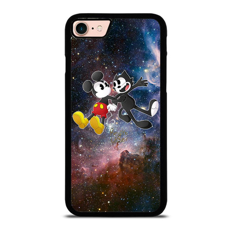 MICKEY MOUSE AND FELIX THE CAT-iphone-8-case