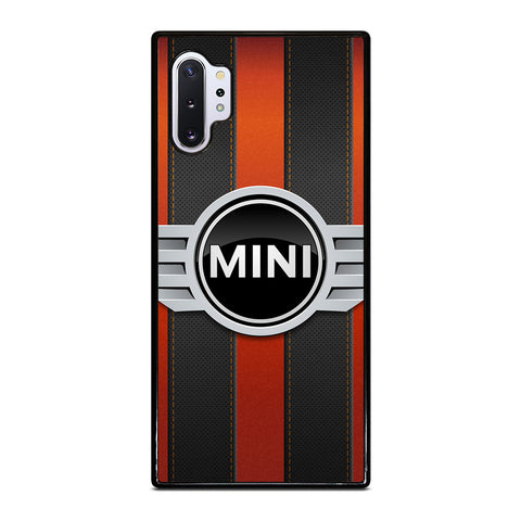 MINI COPER LOGO BLACK RED STRIPES Samsung Galaxy Note 10 Plus Case