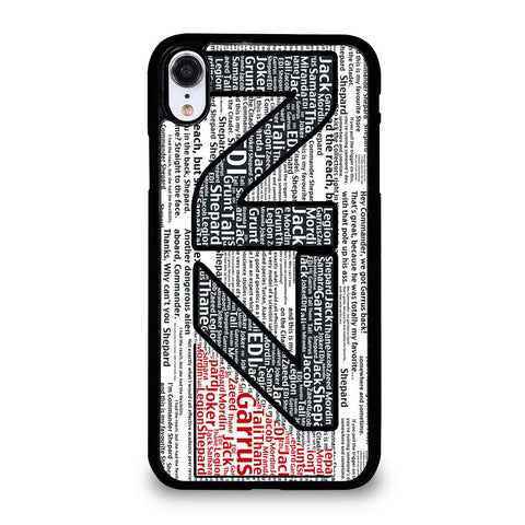 N7 MASS EFFECT LOGO TYPOGRAPHY-iphone-xr-case