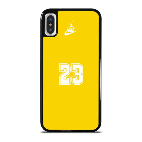 NIKE 23 YELLOW AIR JORDAN iPhone X / XS Case