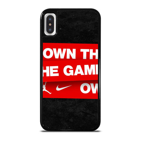 NIKE AIR JORDAN OWN THE GAME iPhone X / XS Case