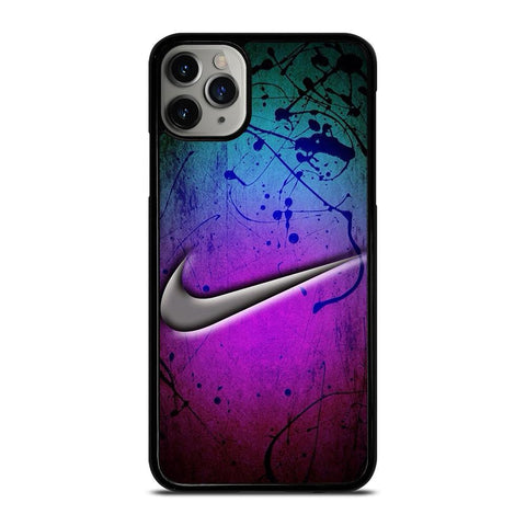 NIKE LOGO GREEN VIOLET iPhone 11 Pro Max Case