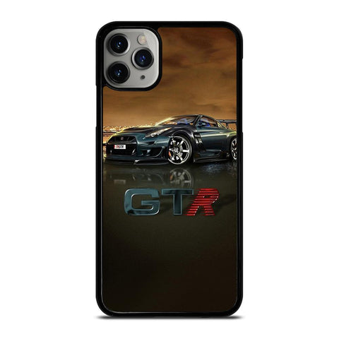 NISSAN GTR R35 SILVER GLOWING iPhone 11 Pro Max Case