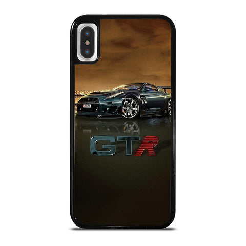 NISSAN GTR R35 SILVER GLOWING iPhone X / XS Case